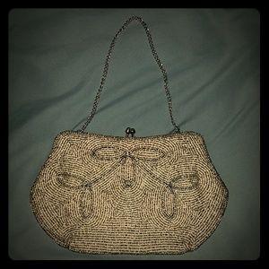 Vintage beaded hand purse